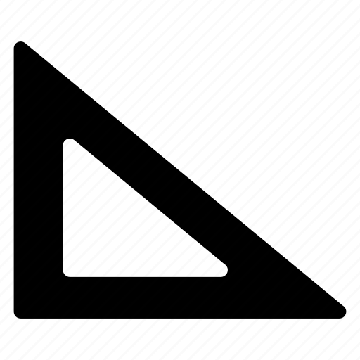 design, draw, measure, protractor icon