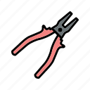 construction, mechanic, plier, tools, work icon
