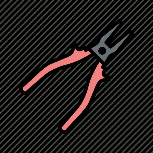 construction, mechanic, plier, tools, work icon