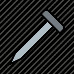metal, nail, screw, tack icon