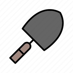 construction, gardening, shovel, tool, trowel icon