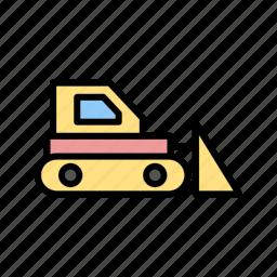 bulldozer, construction, crane, machine, machinery icon