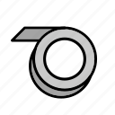 cassette, construction, measure, repair, tape, tool icon