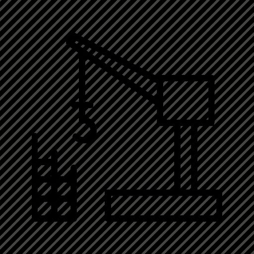 building, construction, crane icon