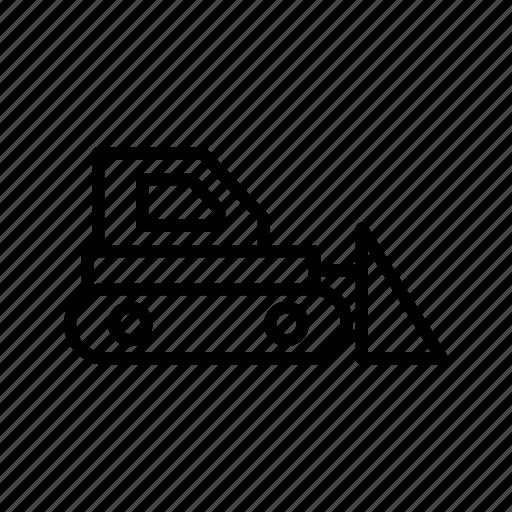 bull dozer, bulldozer, construction icon