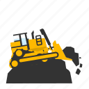 bulldozer, dirt, mining, landfill, push, trash, crawler