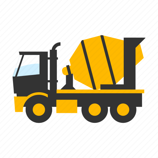 cement, concrete, construction, machine, mixing, transport, truck icon