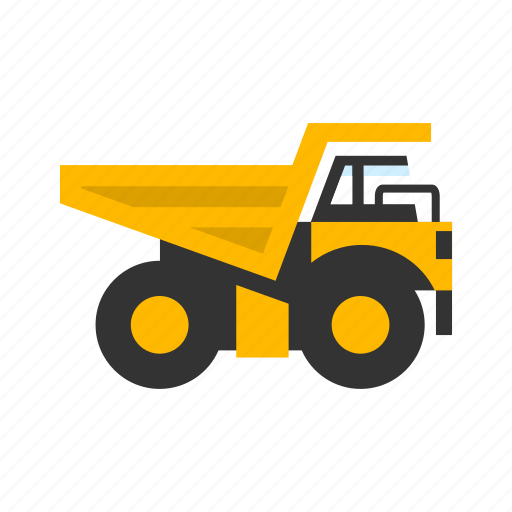 big, dumping, haul truck, mining, transport, transportation, truck icon