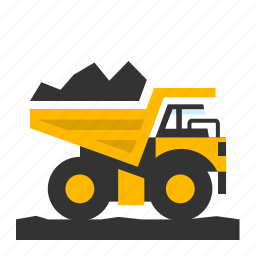 dumping, haul truck, load, mining, transport, transportation, truck icon