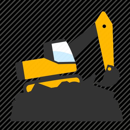 excavator, landfill icon