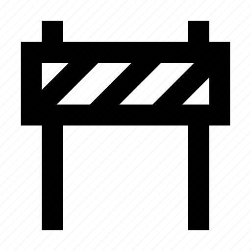 barrier, construction, road, street, traffic icon