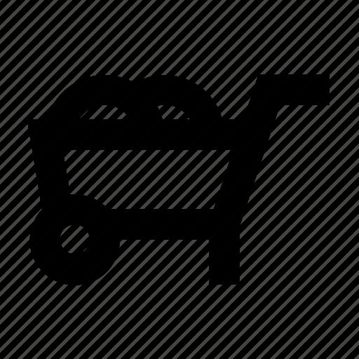 barrow, cart, hand, truck, wheelbarrow icon