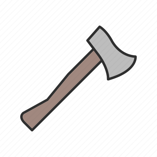 axe, cutter, tool, work icon