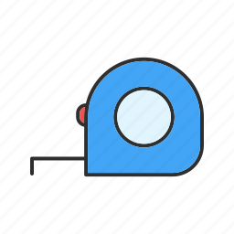 construction, measuring, scale, tape icon