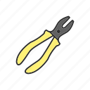 construction, plier, tool, work icon