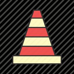 cone, construction, dessert, work icon