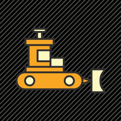 bulldozer, construction, excavator, machine icon