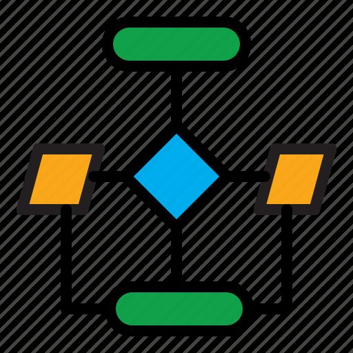 flowchart, scheme, workflow icon