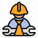 construction worker, engineer, mechanic icon