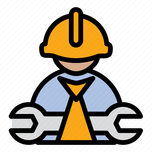 Construction worker, engineer, mechanic icon - Download on Iconfinder
