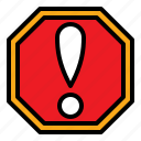 caution, sign, warning icon