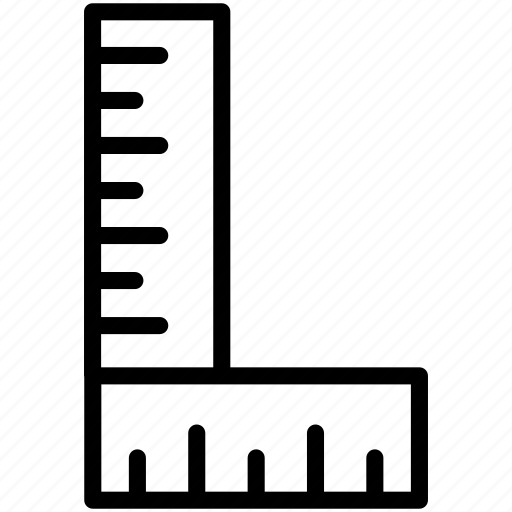 angle, design, measure, ruler, tool icon