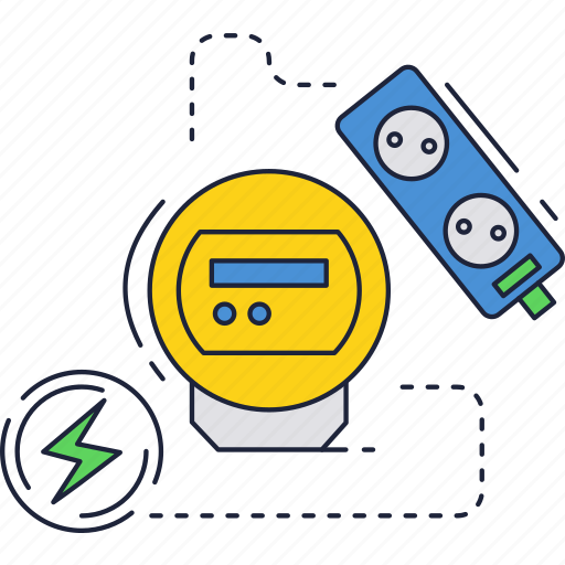 electric, electricity, meter icon