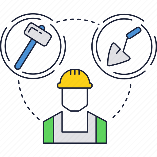 bulding, consctuction, worker icon