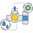 drops, faucet, tap, water icon