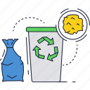 bin, recycle, sign, trash, waste icon