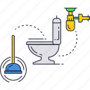 bathroom, clean, restroom, toilet icon