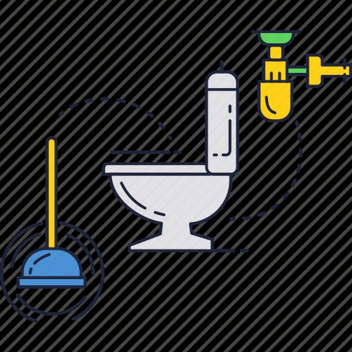 bathroom, clean, restroom, toilet icon