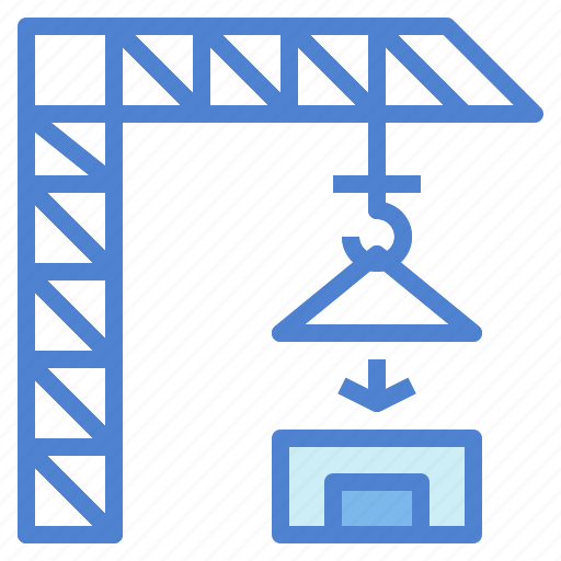 Construction, crane, industry, lift, tool icon - Download on Iconfinder