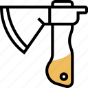 axe, lumberjack, sharp, handle, construction