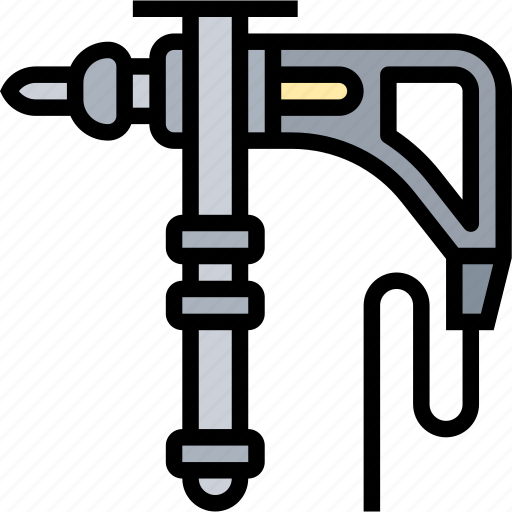 Drill, electric, screw, mechanic, construction icon - Download on Iconfinder