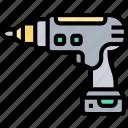 drill, screwdriver, machine, tool, construction