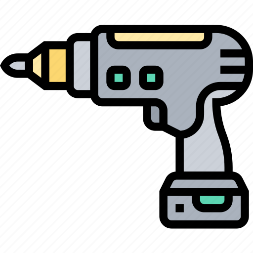 Drill, screwdriver, machine, tool, construction icon - Download on Iconfinder