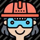 helmet, safety, protection, builder, engineer