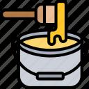 paint, bucket, color, brush, renovation