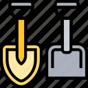 shovel, dig, garden, tool, landscaping