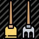 spade, dirt, garden, construction, tool