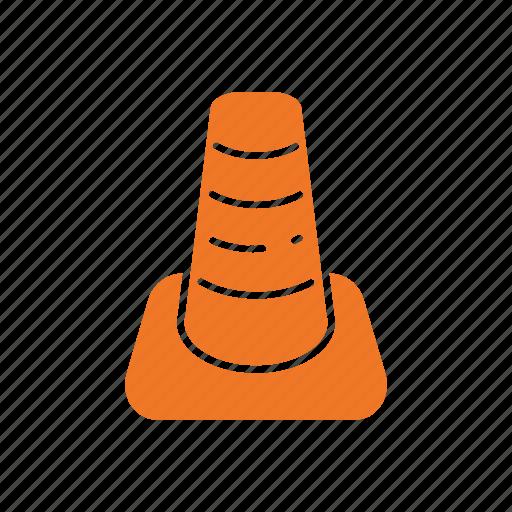 cone, construction, equipment, repair, stop, tool, work icon
