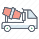 cement mixer, concrete buggy, concrete mixer, concrete vehicle, construction buggy, construction vehicle icon