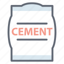 cement, cement bag, cement sack, concrete, construction material icon