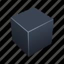 box, brick, cube, tile icon