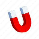 attach, attract, magnet, physics, power, up icon