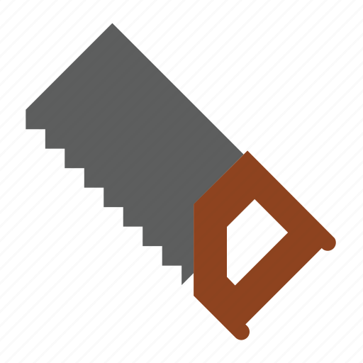 construction, handsaw, tools, wood icon