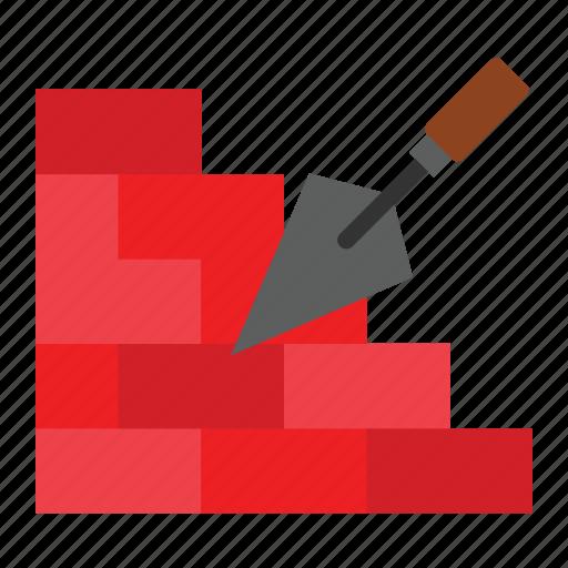 bricks, construction, wall icon