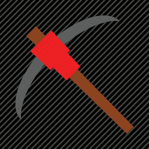 construction, pickaxe, rock, tools icon