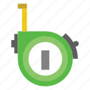construction, measure, tape, tools icon